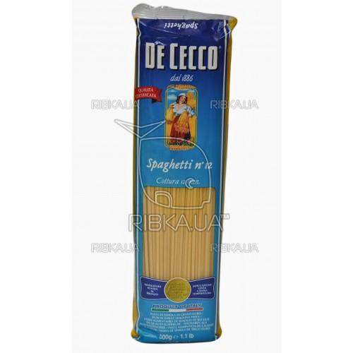 Макароны De Cecco Spaghetti №12