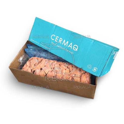 Кусочки лосося в упаковке б/ш с/м Cermaq (5 кг) Чили
