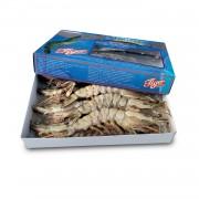 Креветка тигровая с головой с/м 6-8 (1 кг)