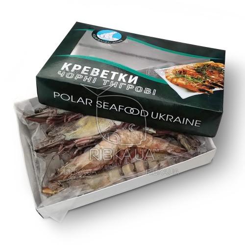 Креветка тигровая с головой с/м 8-12 (1 кг) Polar Seafood