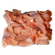 Кусочки лосося без шкуры с/м в вакуумной упаковке