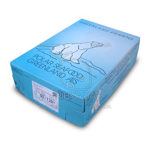 Креветка гренландская в панцире вар/мор Pandalus Borealis 120+ ящик 5 кг