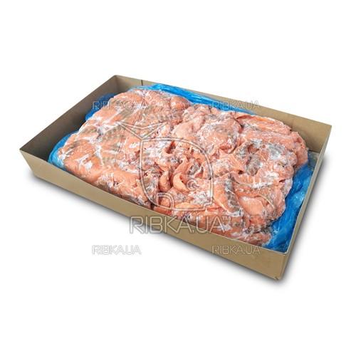 Кусочки лосося полосками без шкуры в пластах с/м (15 кг) (Норвегия)