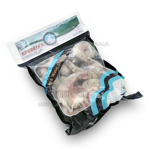 Креветка тигровая без головы с/м 6-8 (1 кг) Polar Seafood