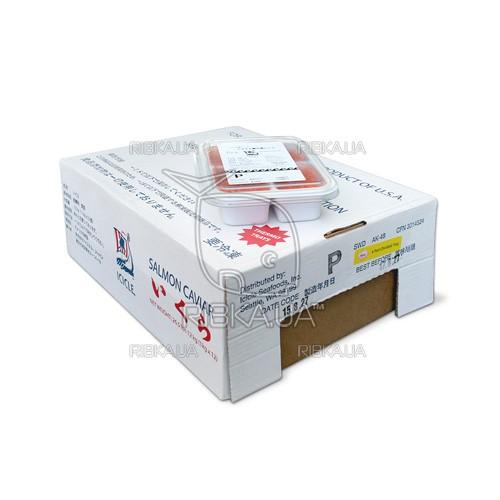Икра горбуши солёно-мороженая ICICLE P сорт 1 (1 ящик) - 12 пачек по (4х250 грамм)