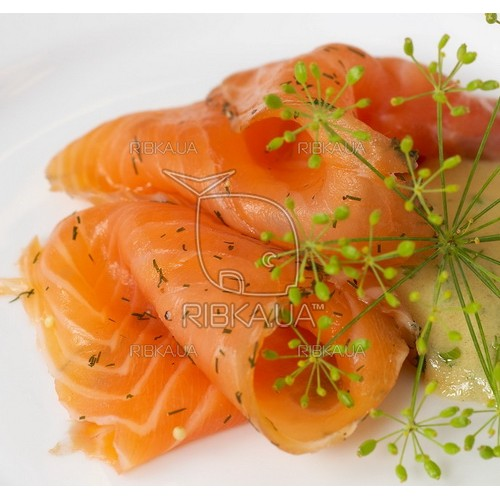 Кусочки лосося со специями б/ш с/м (упак. 2х150 грамм)