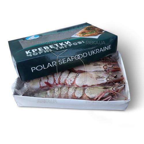 Креветка тигровая с головой с/м 2-4 (1 кг) Polar Seafood