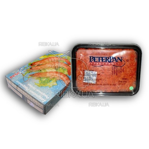 Комплект креветка в панцире 30-55 + икра горбуши Питер Пен 500 гр.
