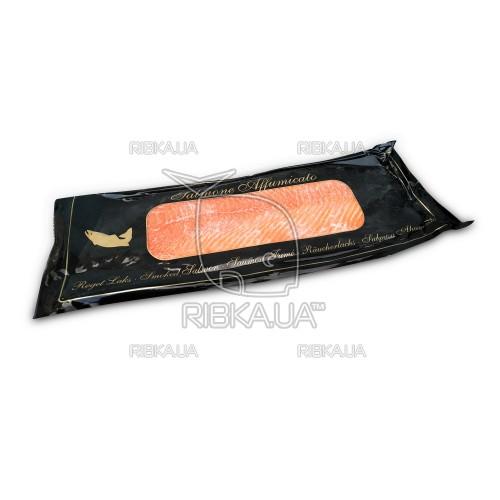 Филе лосося холодного копчения без шкуры