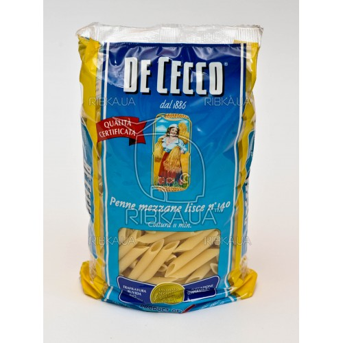 Макароны De Cecco Penne mezzane lisce №140