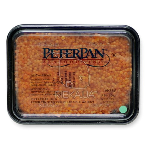 Икра горбуши солёно-мороженая PeterPan (500 грамм) I