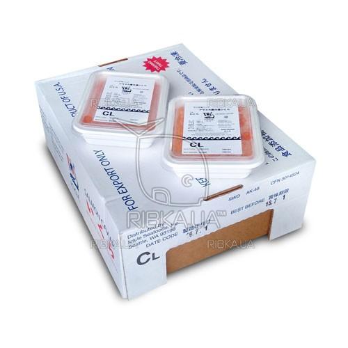 Икра кеты шоковой заморозки ICICLE CL (1 ящик) сорт 3 - 12 пачек по 1 кг - 2016