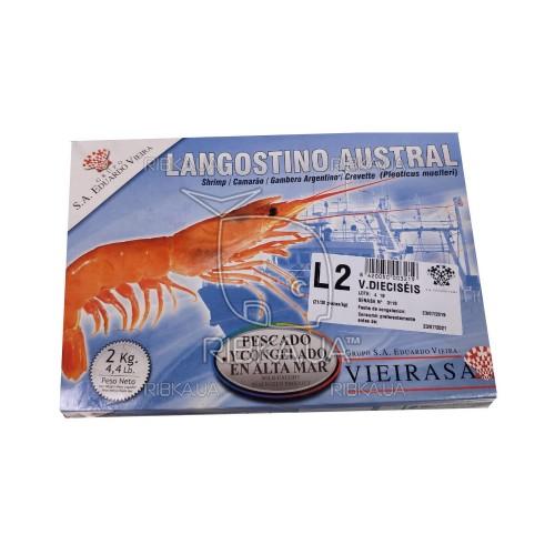 Креветка аргентинская в панцире с/м 21-30 Eduardo Vieira (2 кг)
