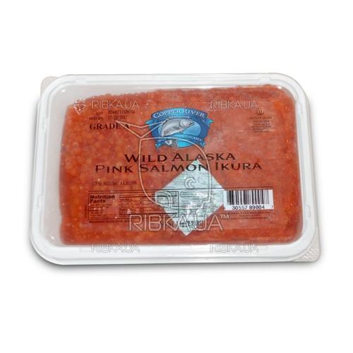 Икра горбуши солёно-мороженая Copper River (1 кг.) сорт 1