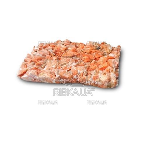 Кусочки лосося на шкуре в пластах с/м (10 кг)