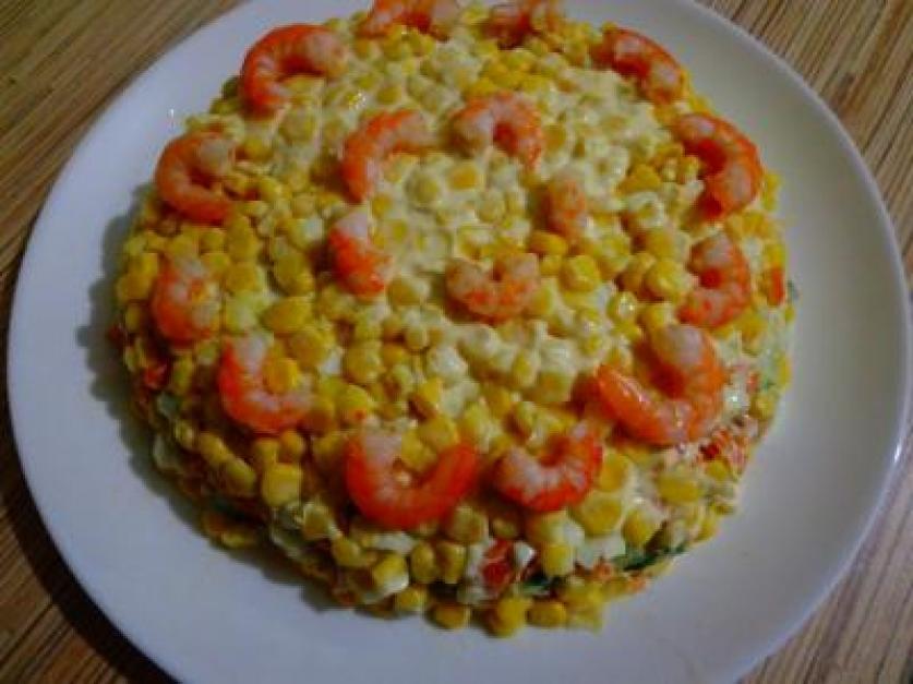 Салат «Айсберг» с креветками