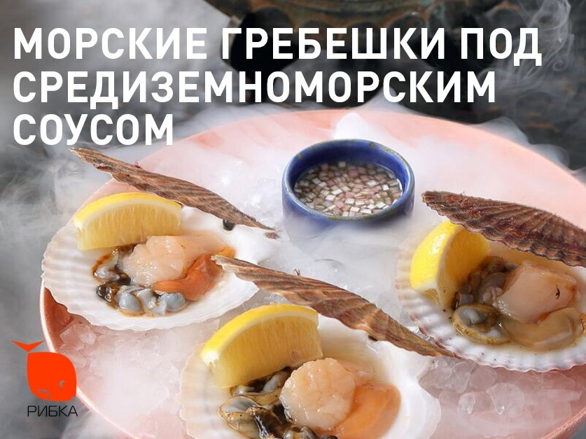 Морские гребешки под средиземноморским соусом