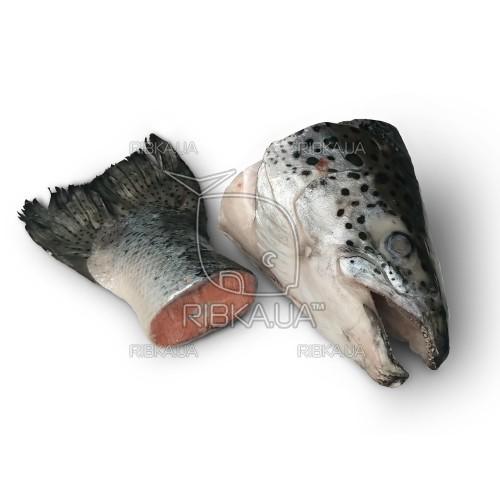 Суповой набор из обрезков сёмги, кижуча и форели (лосося) свежемороженый