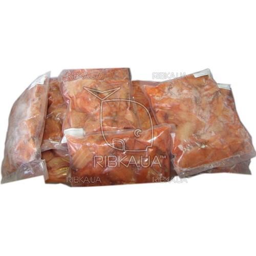 Кусочки лосося в вакуумной упаковке б/ш с/м (1 кг)