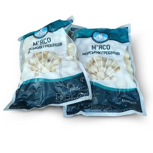 Гребешки мороженые очищенные 80-100 Polar Seafood (1 кг)